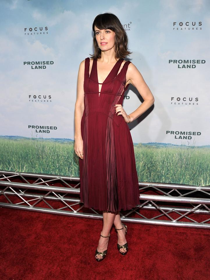 """NEW YORK, NY - DECEMBER 04:  Actress Rosemarie Dewitt attends """"Promised Land"""" premiere at AMC Loews Lincoln Square 13 theater on December 4, 2012 in New York City.  (Photo by Stephen Lovekin/Getty Images)"""