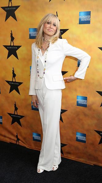 <p>Judith Light added a necklace with all the colors of the rainbow to her all white look.</p>