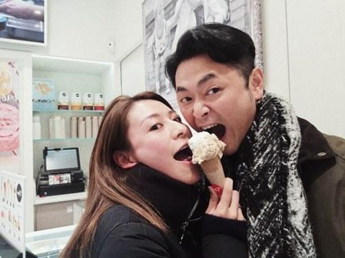 Happiness is sharing an ice cream