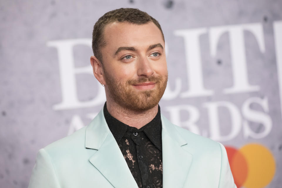 Sam Smith poses for photographers upon arrival at the Brit Awards 2019 in London, Wednesday, Feb. 20, 2019. (Photo by Vianney Le Caer/Invision/AP)
