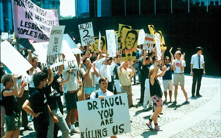 Targeted by an ACT UP demo - NIH