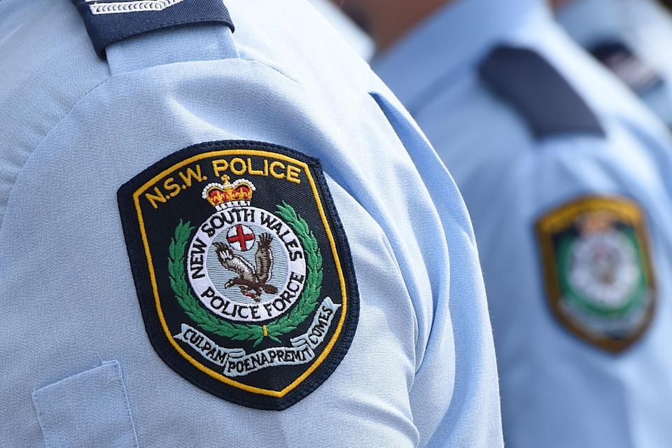 Stock image of New South Wales Police badges in Sydney. Source: AAP