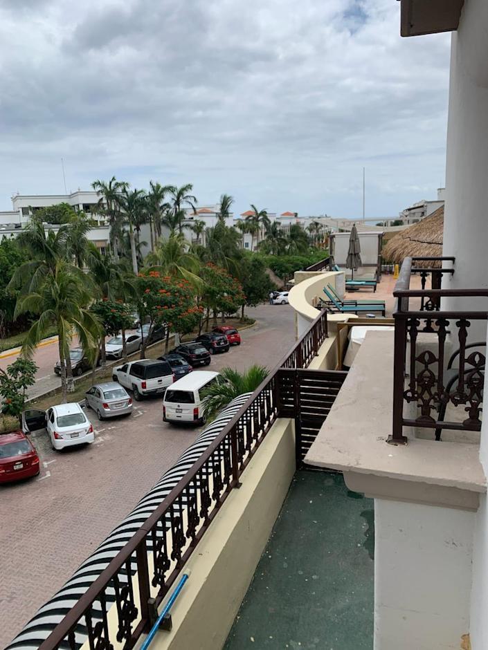 "<div class=""inline-image__caption""><p>View from quarantine room at Panama Jack Resort.</p></div> <div class=""inline-image__credit"">Diane Schmidt</div>"