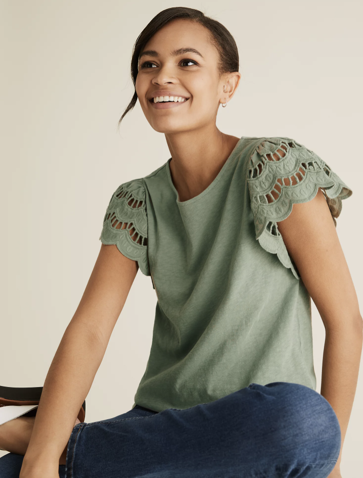 The stylish top comes in four colours. (Marks & Spencer)