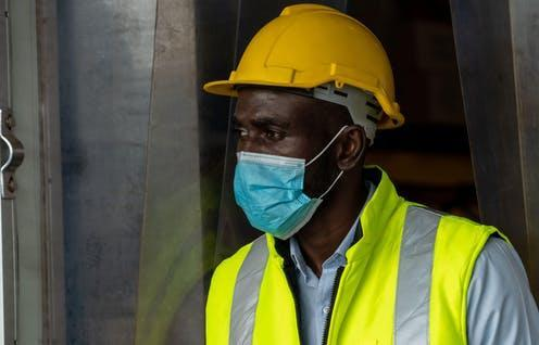 """<span class=""""caption"""">How the law can protect you.</span> <span class=""""attribution""""><a class=""""link rapid-noclick-resp"""" href=""""https://www.alamy.com/factory-industry-worker-working-with-face-mask-to-prevent-covid-19-coronavirus-spreading-during-job-reopening-period-image371833326.html?pv=1&stamp=2&imageid=C06017C7-1DE8-46DB-B069-AE2B7DE5BAF7&p=1150547&n=0&orientation=0&pn=1&searchtype=0&IsFromSearch=1&srch=foo%3dbar%26st%3d0%26pn%3d1%26ps%3d100%26sortby%3d2%26resultview%3dsortbyPopular%26npgs%3d0%26qt%3dcovid%2520worker%26qt_raw%3dcovid%2520worker%26lic%3d3%26mr%3d0%26pr%3d0%26ot%3d0%26creative%3d%26ag%3d0%26hc%3d0%26pc%3d%26blackwhite%3d%26cutout%3d%26tbar%3d1%26et%3d0x000000000000000000000%26vp%3d0%26loc%3d0%26imgt%3d0%26dtfr%3d%26dtto%3d%26size%3d0xFF%26archive%3d1%26groupid%3d%26pseudoid%3d%26a%3d%26cdid%3d%26cdsrt%3d%26name%3d%26qn%3d%26apalib%3d%26apalic%3d%26lightbox%3d%26gname%3d%26gtype%3d%26xstx%3d0%26simid%3d%26saveQry%3d%26editorial%3d%26nu%3d%26t%3d%26edoptin%3d%26customgeoip%3dGB%26cap%3d1%26cbstore%3d1%26vd%3d0%26lb%3d%26fi%3d2%26edrf%3d0%26ispremium%3d1%26flip%3d0%26pl%3d"""" rel=""""nofollow noopener"""" target=""""_blank"""" data-ylk=""""slk:Pitinan Piyavatin / Alamy Stock Photo"""">Pitinan Piyavatin / Alamy Stock Photo</a></span>"""
