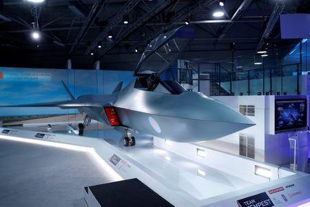FILE PHOTO: Britain's defence minister, Gavin Wiliamson, unveiled a model of a new jet fighter, called 'Tempest' at the Farnborough Airshow, in Farnborough