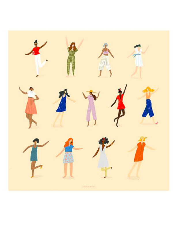 """Have a bare wall that needs sprucing or a housewarming party coming up? Pottery Barn partneredwith <a href=""""https://www.womenwhodraw.com/"""" rel=""""nofollow"""" target=""""_blank"""">Women Who Draw</a>, an organization that aims to increase the visibility of female illustrators,with the release ofa new limited-edition art print. The home brand partnered with female artist Alex Labriola to design <em>Movement</em>, a print about self expression and dancing to the beat of your own drum. <strong>25% of the proceeds will directly benefit</strong> <a href=""""https://herproject.org/"""" rel=""""nofollow"""" target=""""_blank""""><strong>HERproject</strong></a>, a nonprofit that empowers factory workers through training and education programs on health, financial literacy, and gender equality. Shop more limited edition prints for a good cause <a href=""""https://fave.co/2TNAoZj"""" rel=""""nofollow"""" target=""""_blank"""">here</a>. $59, Pottery Barn. <a href=""""https://www.potterybarn.com/products/the-movement-alex-labriola-framed-print-art/"""">Get it now!</a>"""