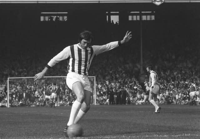 Jeff Astle's death was caused by the repeated trauma of heading a football, a coroner ruled after his death in 2002 (PA)