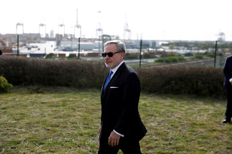U.S. Secretary of Energy Dan Brouillette visits the LNG (liquefied natural gas) terminal at the port of Sines