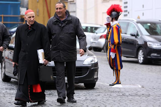 VATICAN CITY, VATICAN - MARCH 07: Italian cardinal Severino Poletto leaves the Paul VI Hall at the end of a session of cardinals general congregations on March 7, 2013 in Vatican City, Vatican. There is no indication as yet when a Papal conclave will take place following the resignation of Pope Benedict XVI. (Photo by Franco Origlia/Getty Images)
