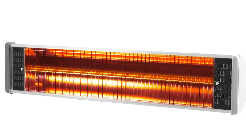 Save 77 percent on this wall- and ceiling-mounted patio heater. (Photo: Wayfair)