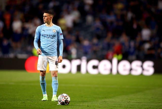 Phil Foden started as Manchester City lost the Champions League final to Chelsea on Saturday