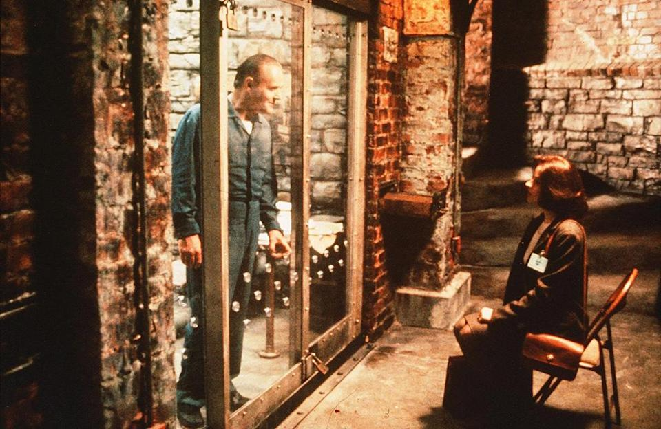 """<a href=""""http://movies.yahoo.com/movie/the-silence-of-the-lambs/"""" data-ylk=""""slk:THE SILENCE OF THE LAMBS"""" class=""""link rapid-noclick-resp"""">THE SILENCE OF THE LAMBS</a> (1991) <br>Directed by: <span>Jonathan Demme</span> <br>Starring: <span>Jodie Foster</span>, <span>Anthony Hopkins</span> and <span>Scott Glenn</span>"""