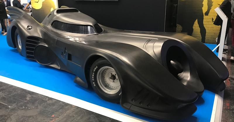 The Batmobile making an appearance at the Viva Technology conference in Paris.