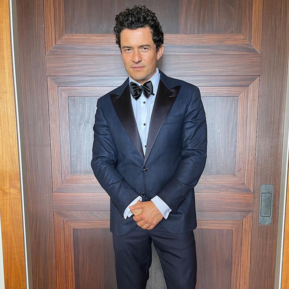 Orlando Bloom in a suit.