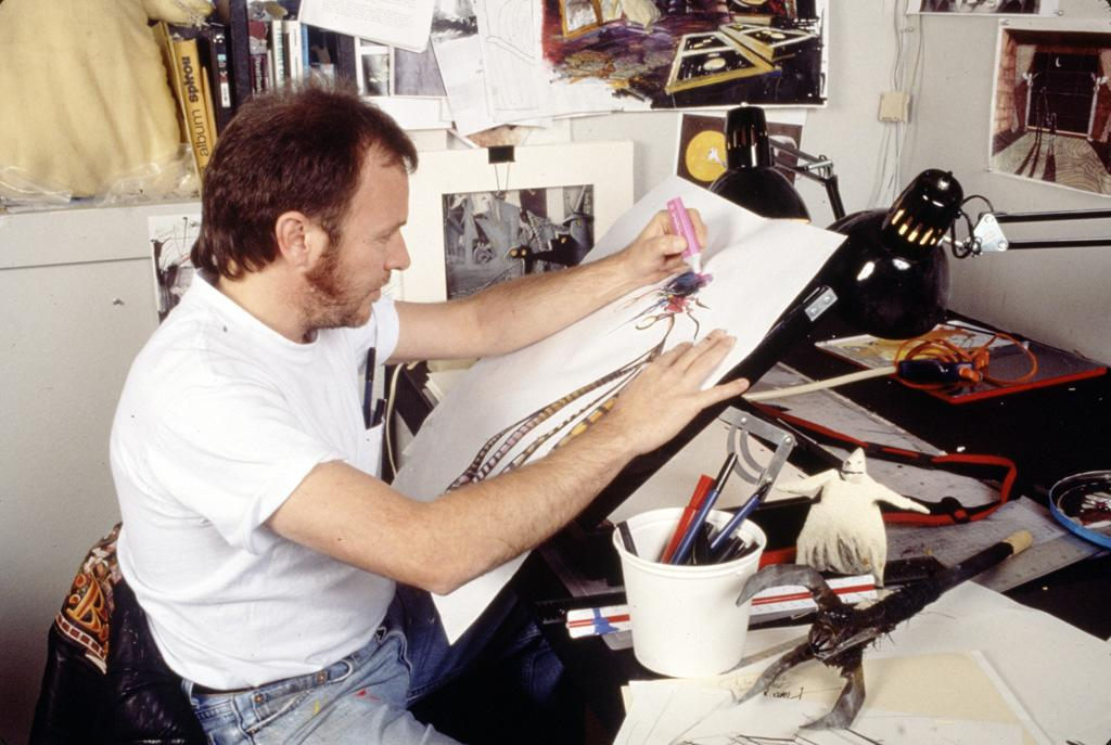 "Art director <a href=""http://movies.yahoo.com/movie/contributor/1808905355"">Deane Taylor</a> at work on Walt Disney Pictures' <a href=""http://movies.yahoo.com/movie/1808740474/info"">Tim Burton's The Nightmare Before Christmas</a> - 1993"
