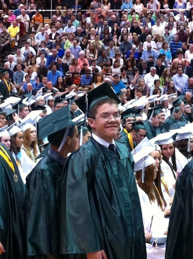 Blair was able to graduate from public school. (Courtesy of Sue Patton)