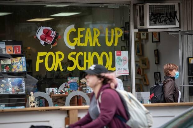 Some students are fighting against the return of the quadmesterlearning model next year at the Toronto District School Board. They say the condensed schedules  are leading to mental health issues andinformation overload for students. (Evan Mitsui/CBC - image credit)