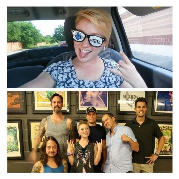 Meredith Hight, pictured with the band 311. (Provided by 311)
