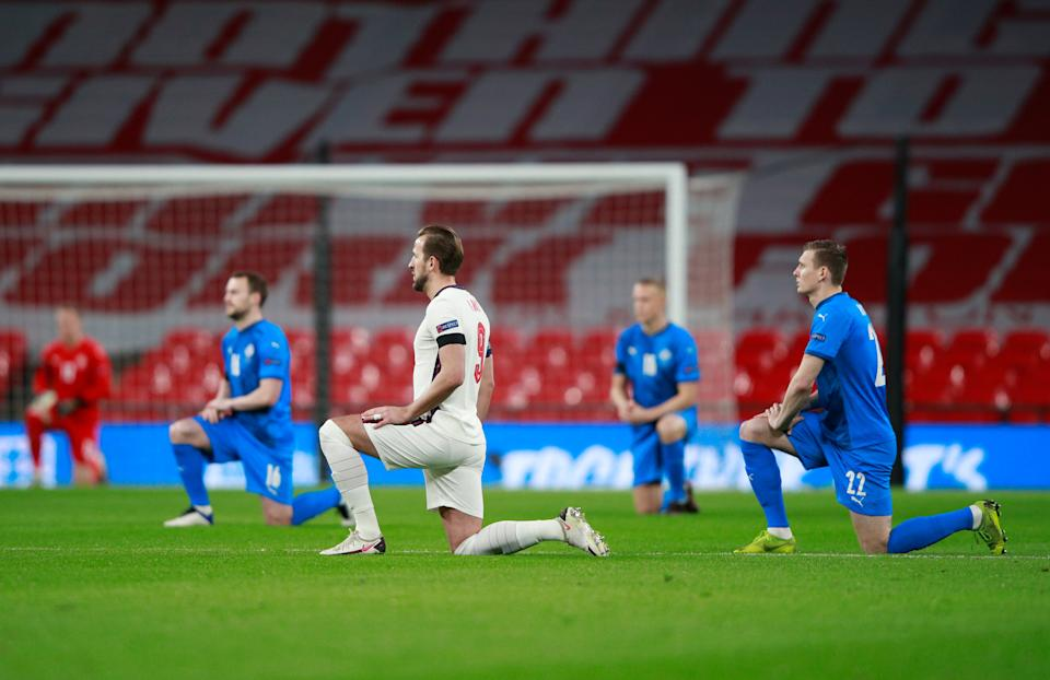 Kane saw his England teammates racially abused in Bulgaria last yearGetty