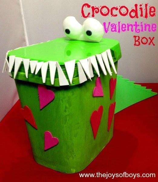 "<p>This croc can gobble up tons of Valentines! Kids will love opening the mouth to drop their cards inside.</p><p><strong>Get the tutorial at <a href=""https://thejoysofboys.com/crocodile-valentine-box/"" rel=""nofollow noopener"" target=""_blank"" data-ylk=""slk:The Joys of Boys"" class=""link rapid-noclick-resp"">The Joys of Boys</a>.</strong></p><p><strong><a class=""link rapid-noclick-resp"" href=""https://www.amazon.com/Apple-Barrel-Acrylic-Assorted-21136/dp/B0018N81PE/?tag=syn-yahoo-20&ascsubtag=%5Bartid%7C10050.g.25844424%5Bsrc%7Cyahoo-us"" rel=""nofollow noopener"" target=""_blank"" data-ylk=""slk:SHOP GREEN PAINT"">SHOP GREEN PAINT</a><br></strong></p>"