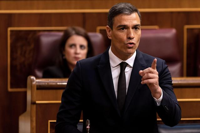 Pedro Sánchez en el Congreso. (Photo by ALBERTO DI LOLLI/POOL / Alberto Di Lolli/AFP via Getty Images)