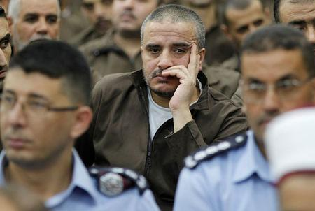 Ahmed Daqamseh, a Jordanian soldier convicted of killing seven Israeli schoolgirls on March 13, 1997, is seen at Um Alluol prison in the city of Mafraq