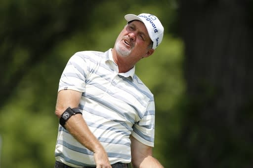 Jerry Kelly makes ace on his way to winning 1st senior major