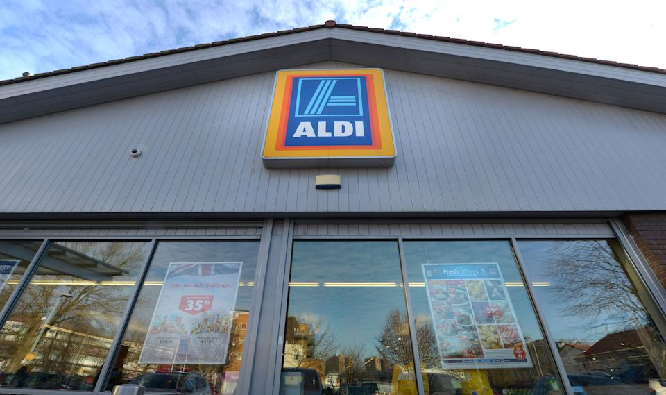 Pictured is the exterior of an Aldi store. Source: AAP