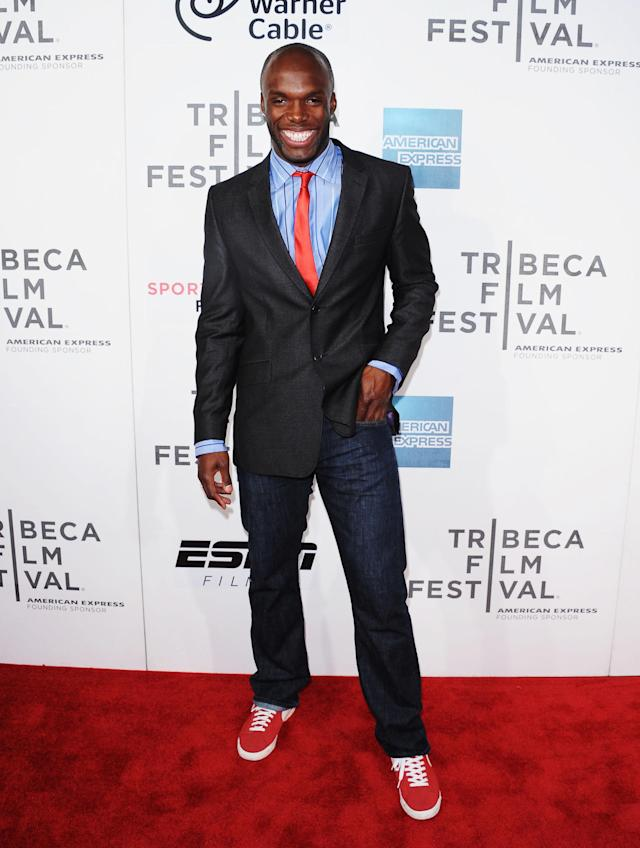 NEW YORK, NY - APRIL 20: Olympian LaShawn Merritt attends the Tribeca/ESPN Sports Film Festival Gala for Benji during the 2012 Tribeca Film Festival at the Borough of Manhattan Community College on April 20, 2012 in New York City. (Photo by Michael Loccisano/Getty Images)