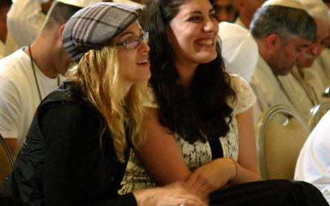 Madonna taking part in Kabbalah conference in Tel Aviv, in 2004 - Credit: reuters