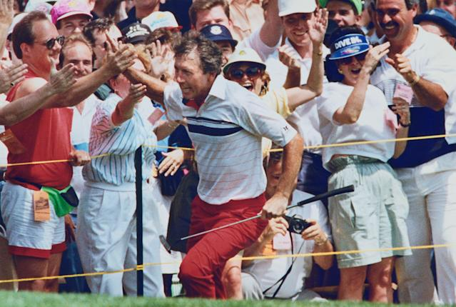 "<div class=""caption""> Irwin had to wait until Monday to take down Mike Donald at the 1990 U.S. Open and become the oldest winner of the championship at 45. </div> <cite class=""credit"">Bettmann</cite>"