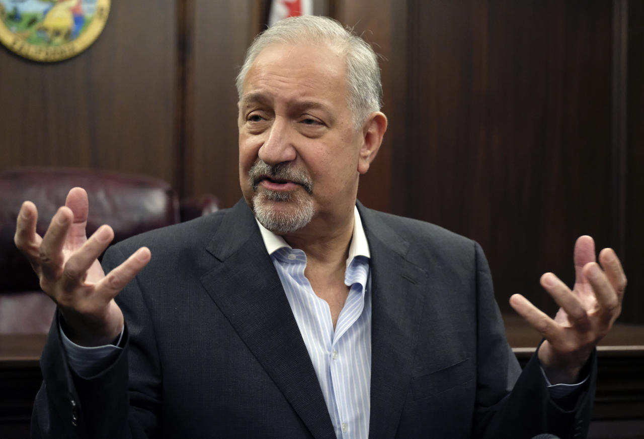 "<p> FILE - In this Sept. 2, 2016, file photo, attorney Mark Geragos talks to the media during a news conference in downtown Los Angeles. Litigation is piling up like bonfire kindling against organizers of the Fyre Festival that flamed out in a fiasco in April 2017 in the Bahamas, and Geragos says the event billed as ""the cultural experience of the decade"" was a ""get-rich-quick scam."" (AP Photo/Richard Vogel, File)"