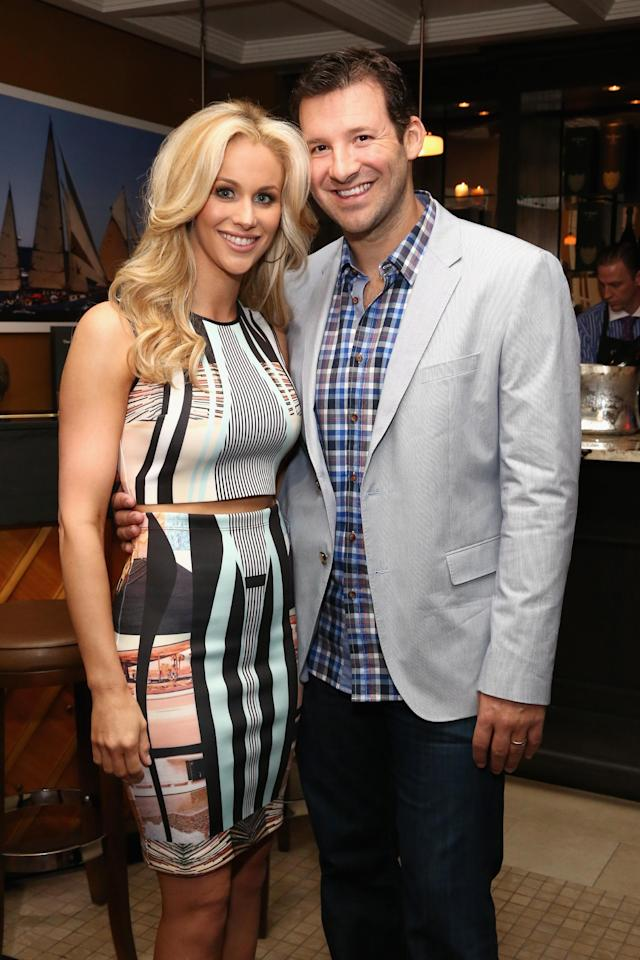 GEORGETOWN, WA - MAY 02: Tony Romo (R) and wife Candice Crawford attend the Dom Perignon and Eric Podwall host of the evening before The White House Correspondents' Dinner at Fiola Mare on May 2, 2014 in Georgetown, Washington. (Photo by Astrid Stawiarz/Getty Images for Dom Perignon)