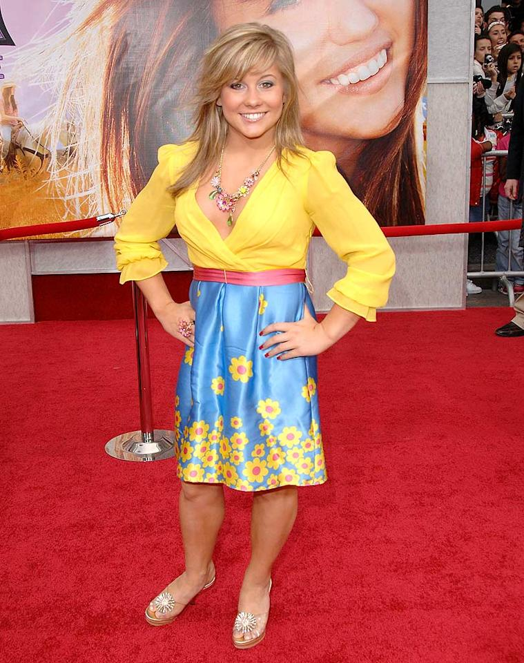 "I'm giving 17-year-old Shawn Johnson a 0.0 for her performance on the red carpet at the ""Hannah Montana"" movie premiere. She looked four times her age in that matronly mistake. Jon Kopaloff/<a href=""http://www.filmmagic.com/"" target=""new"">FilmMagic.com</a> - April 2, 2009"
