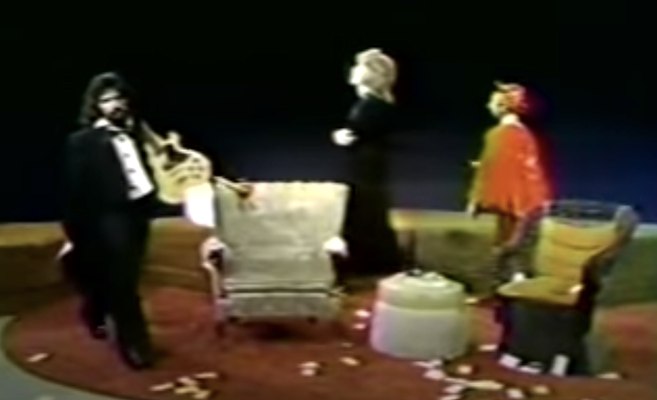 John Oates, Daryl Hall, and the Devil in the 1973 'She's Gone' music video. (Photo: YouTube)