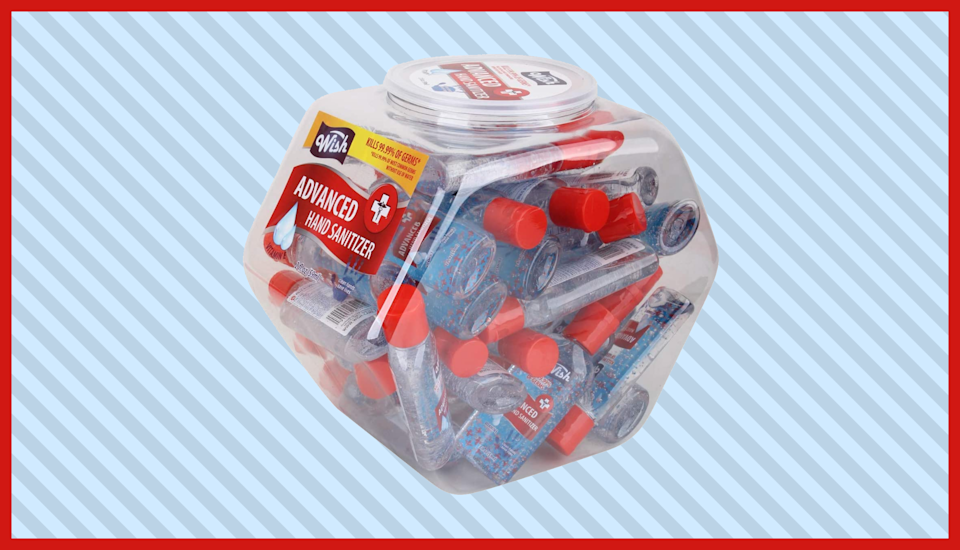 Keep this fishbowl of hand sanitizer in your entryway for on-the-go use. (Photo: Amazon)