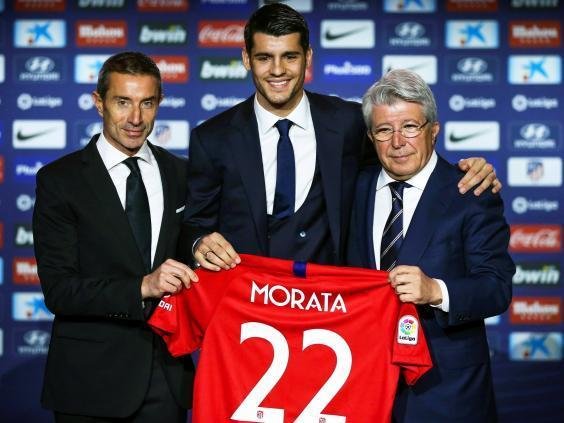 Morata was unveiled in Madrid on Tuesday (EPA)