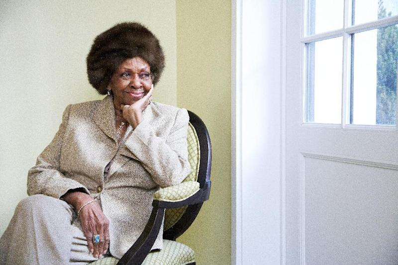 """This Jan. 22, 2013 photo shows American gospel singer and author Cissy Houston posing for a portrait in New York. Houston, mother of the late singer Whitney Houston, is releasing a book, """"Remembering Whitney,"""" on Tuesday, Jan. 29. (Photo by Dan Hallman/Invision/AP)"""