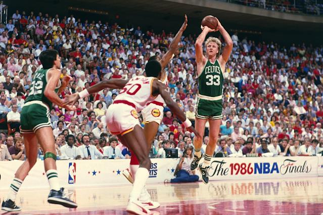 <p>Has there ever been a finer frontcourt than Larry Bird, Kevin McHale, Robert Parish and Bill Walton? Each of those Hall of Famers was healthy and productive in 1985-86, with Bird earning his third straight MVP and Walton winning Sixth Man of the Year. The Celtics went 40-1 at home and stormed through the playoffs without a real challenge. How great were these Celtics? Michael Jordan scored 63 points against them in a playoff game — and lost. </p>