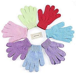 8 pairs of shower gloves mulitple colors