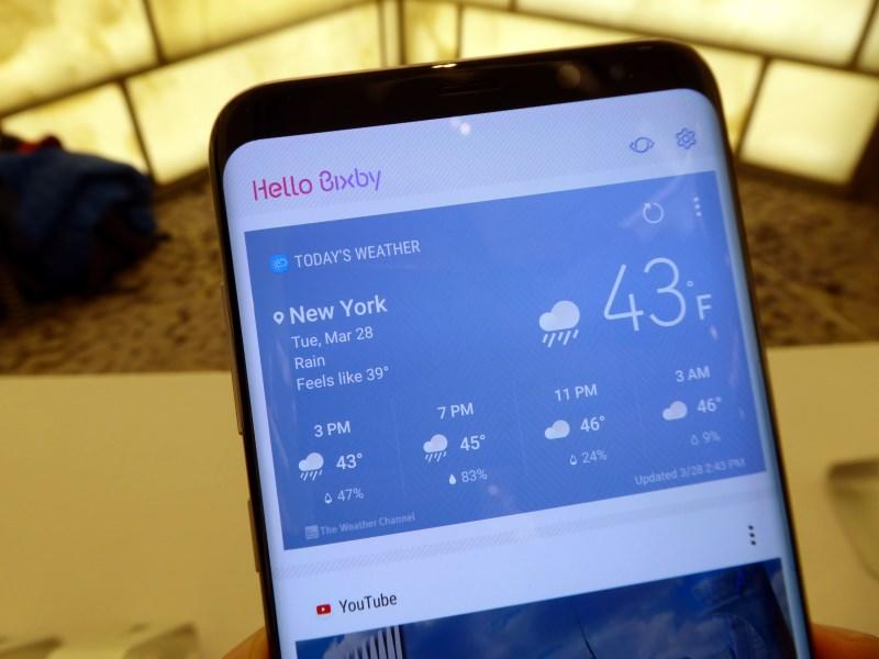 The Bixby Home screen acts as a hub to apps that already have Bixby integration.