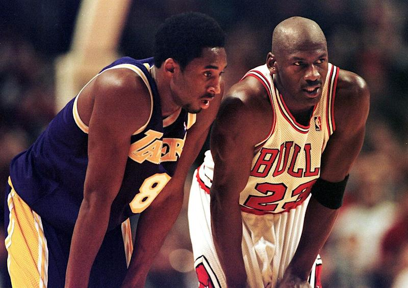Kobe Bryant and Michael Jordan | VINCENT LAFORET/AFP/Getty