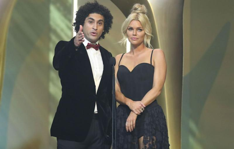 The 37-year-old, who was there to present an award with Ali's Wedding actor Osamah Sami, made an off-the-cuff comment about diversity, joking she doesn't even know what the term means. Source: Getty