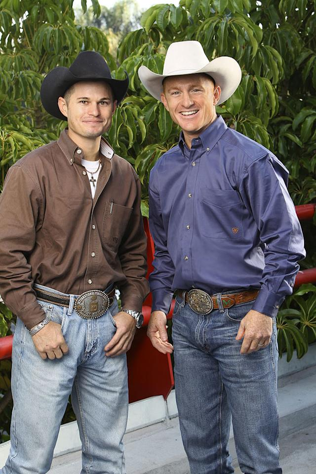 "Jet and Cord McCoy, Cowboys, race around the world for a second chance to win one million dollars, on ""The Amazing Race: Unfinished Business."""