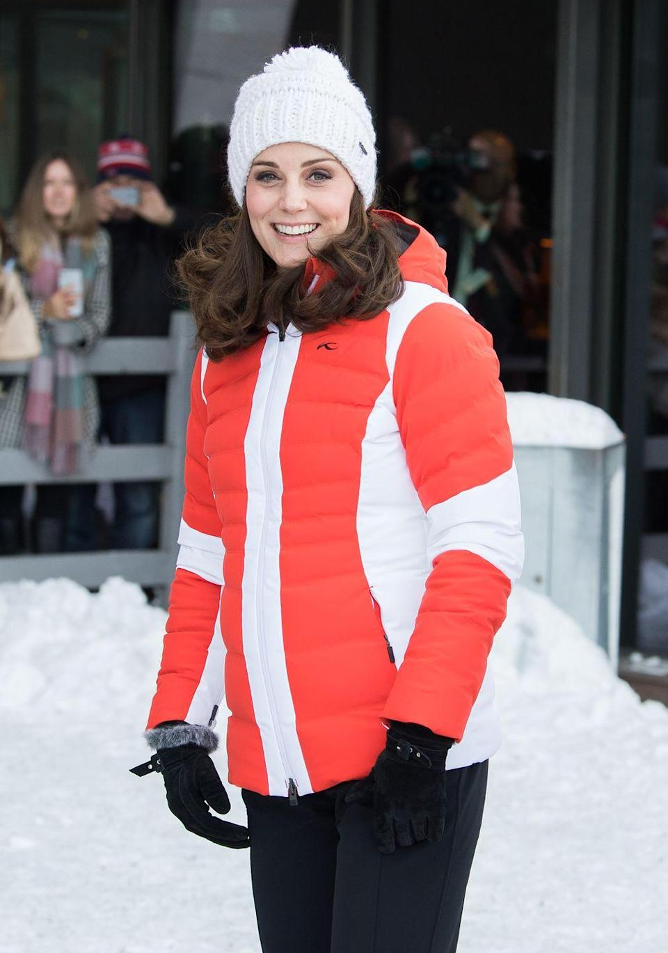 <p>The Duchess hit the slopes in Oslo, Norway, bundling up for an event organized by the Norwegian Ski Federation. </p>