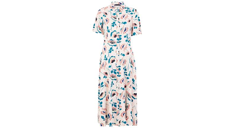 Floral Midaxi Shirt Dress