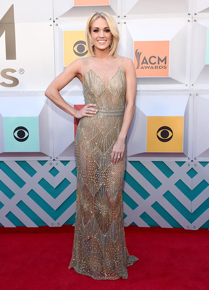 music American awards carpet country red