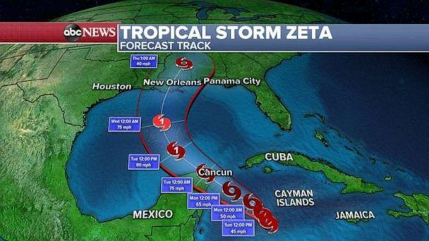 PHOTO: Zeta is the 27th named storm of 2020 Atlantic Hurricane season and is the earliest 27th named storm on record.  (ABC News)