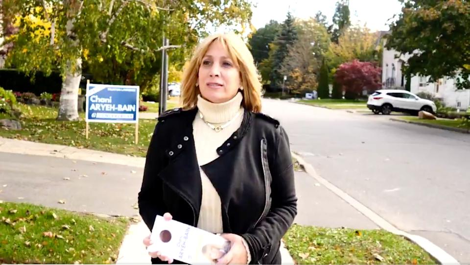 Former Eglinton–Lawrence candidate Chani Aryeh-Bain said the party informed her this week that she would not be on the nomination ballot for the federal riding of Thornhill. (Photo: Twitter/chaniaryehbain)